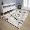 Tapis ivoire rectangle à courtes mèches design Coni