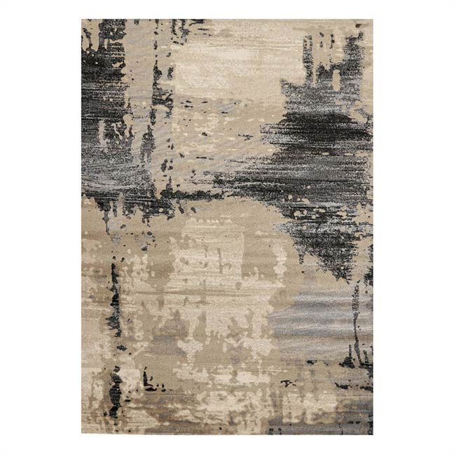 Tapis beige design rectangle en polypropylène Agrigento