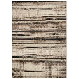 Tapis rayé beige pour intérieur rectangle design Matera