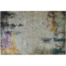 Tapis multicolore moderne lavable en machine rectangle Legnano