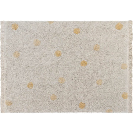 Tapis avec franges en coton lavable en machine Hippy Dots Lorena Canals
