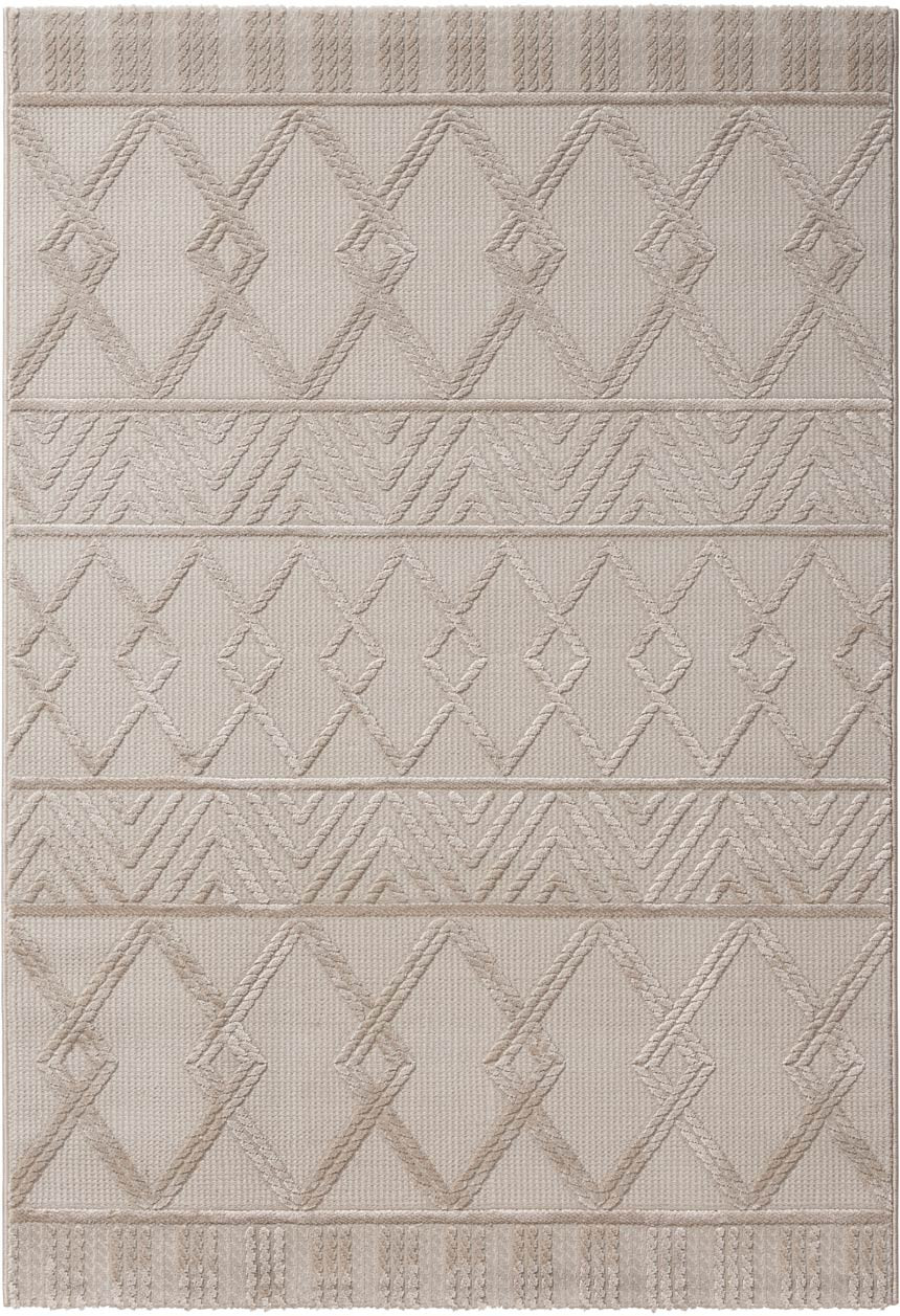 Tapis géométrique intérieur à mèches courtes design Gand