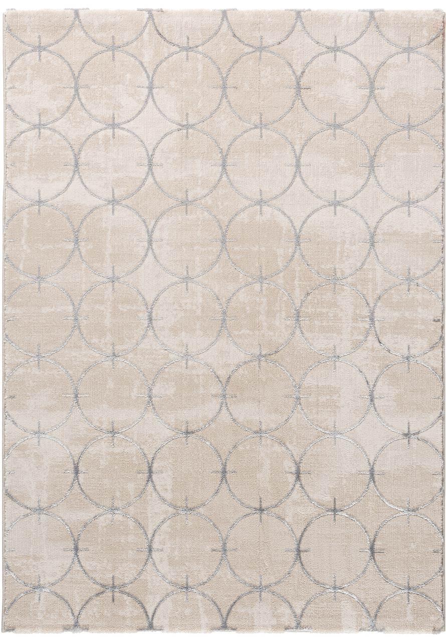 Tapis beige design brillant en polyester graphique Aubange