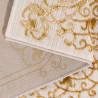 Tapis baroque brillant beige intérieur avec effet 3D Beaumont