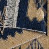 Tapis berbère plat réversible avec franges kilim Souka