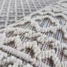 Tapis extérieur et intérieur blanc contemporain effet 3D Couvin
