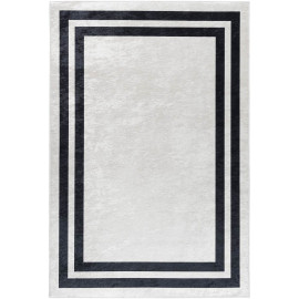 Tapis contemporain lavable en machine rectangle plat Huy