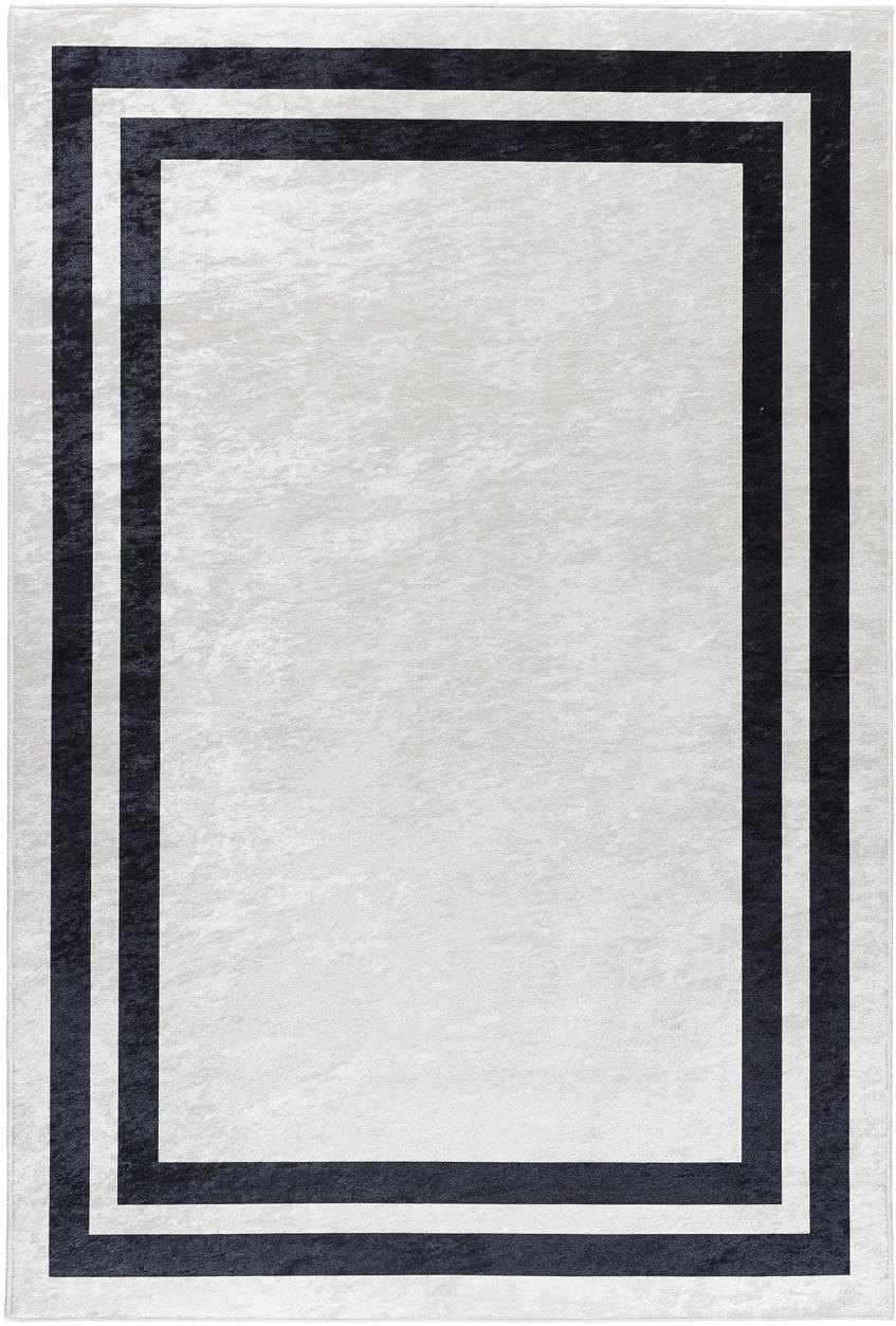 Tapis contemporain lavable en machine rectangle plat Huy