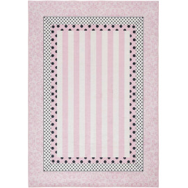 Tapis pour fille rose lavable en machine plat Roxy