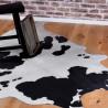 Tapis imitation peau de vache noir et blanc intérieur et extérieur Super 1