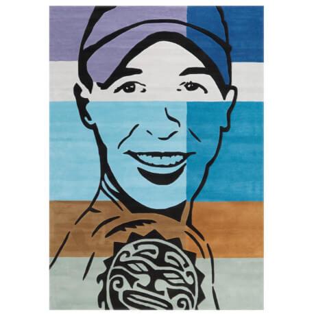 Tapis rectangulaire à mèches courtes Street Art Arte Espina