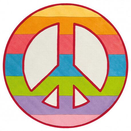 Tapis rond pour chambre de fille Love'n Peace Arte Espina