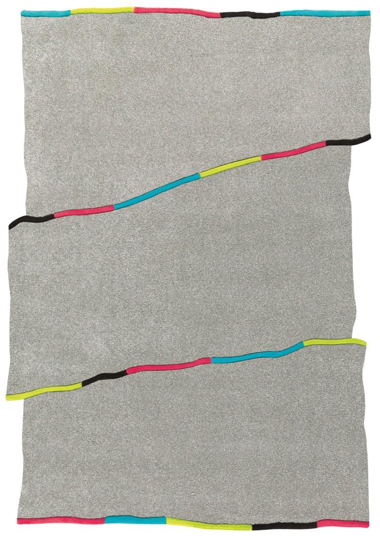 Tapis en polypropylène gris Accent Arte Espina