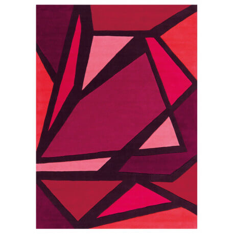 Tapis rouge en acrylique Luminous Arte Espina