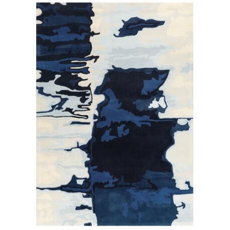 Tapis plat bleu Batik Touch Arte Espina