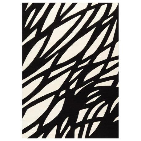 Tapis contemporain noir et blanc Optical Art Arte Espina