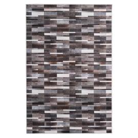 Tapis polyester multicolore patchwork intérieur ethnique Claudine