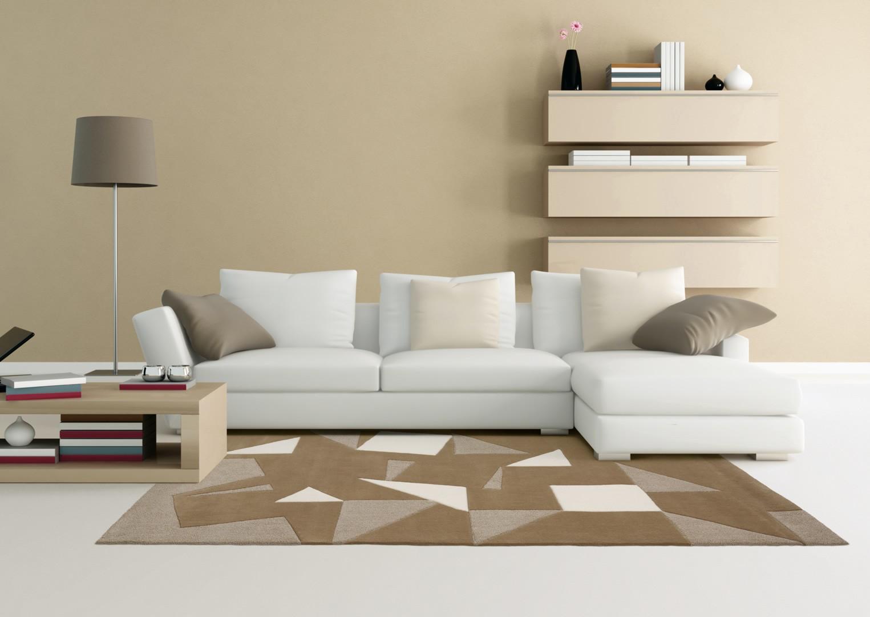 tapis moderne beige monochrome arte espina. Black Bedroom Furniture Sets. Home Design Ideas