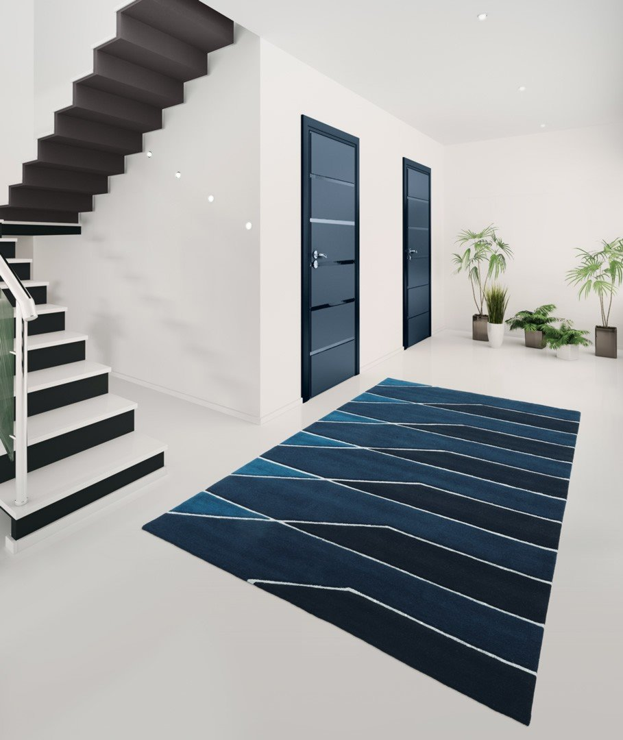 tapis d 39 entr e bleu vegas arte espina. Black Bedroom Furniture Sets. Home Design Ideas