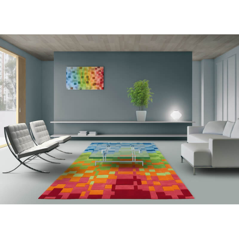tapis moderne color circus arte espina. Black Bedroom Furniture Sets. Home Design Ideas
