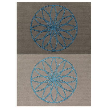 Tapis bleu et gris Revival Arte Espina