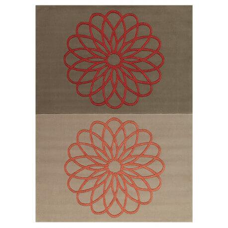 Tapis rouge et gris Revival Arte Espina