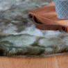 Tapis imitation fourrure très doux uni polyester rond Kendhua