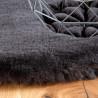 Tapis rond doux uni shaggy effet brillant polyester Oceania