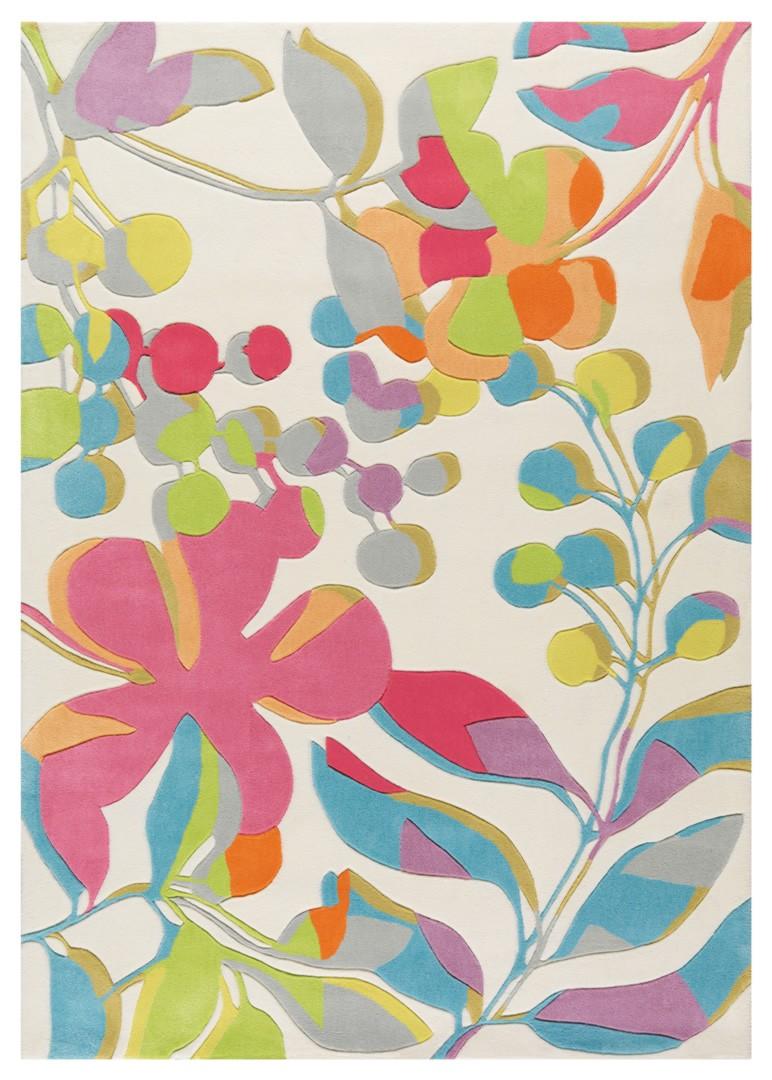 Tapis en acrylique blanc Fleuropa Arte Espina