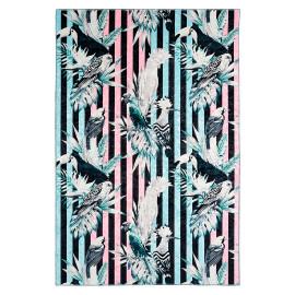 Tapis multicolore moderne floral en polyester Blozy