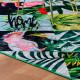 Tapis design multicolore floral en polyester Tanzania