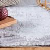 Tapis rayé intérieur à courtes mèches rectangle moderne Mandurah