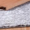 Tapis design avec effet 3D taupe rayé en polyester Alba