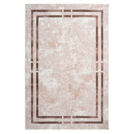 Tapis contemporain beige à courtes mèches rectangle Orellana