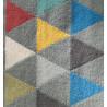Tapis à franges gris Classy Kilim Arte Espina