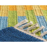 Tapis en coton multicolore Woven Treasure Arte Espina