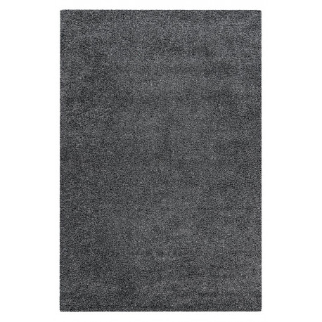 Tapis shaggy uni en polypropylène rectangle Alienor