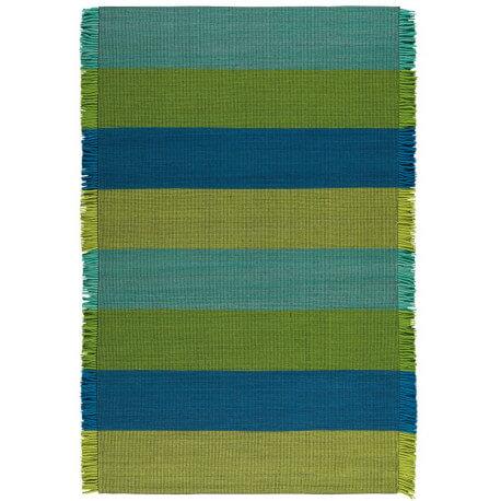 Tapis en laine vert Taping Arte Espina