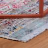 Tapis vintage multicolore avec franges rayé Park