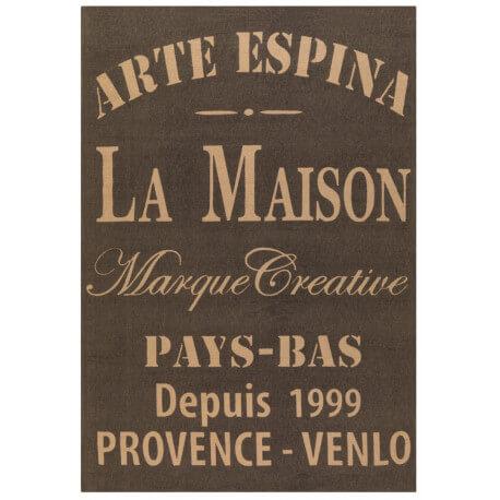 Tapis gris en jute imprimé Rustic Arte Espina