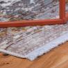 Tapis avec franges taupe rectangle vintage Hedmark