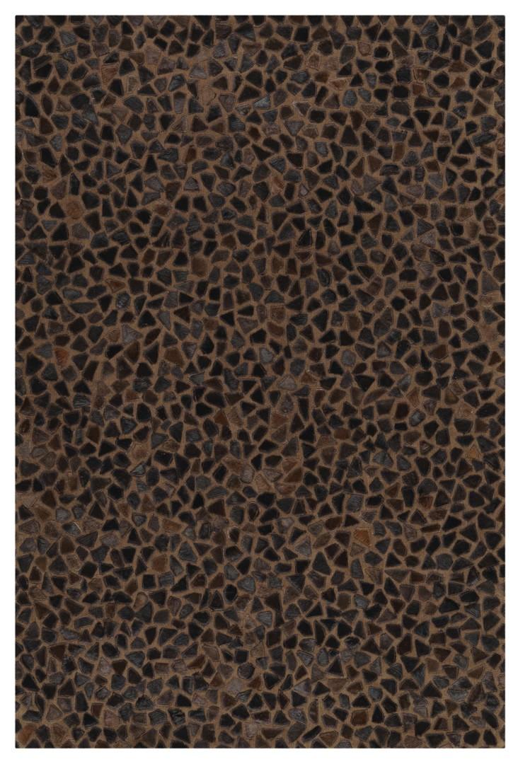 Tapis marron en cuir et coton Pioneer Arte Espina
