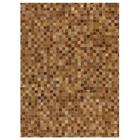 Tapis brun contemporain en cuir Pioneer Arte Espina