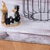 Tapis vintage très doux à courtes mèches rectangle Capolona