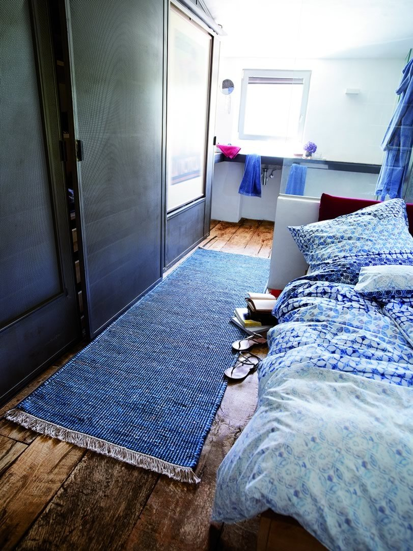 Tapis népalais bleu Loom Durrie par Esprit Home
