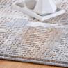 Tapis à courtes mèches moderne rayé rectangle Narino