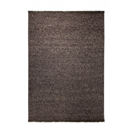 Tapis d'intérieur en laine marron Knitting Optic par Esprit Home
