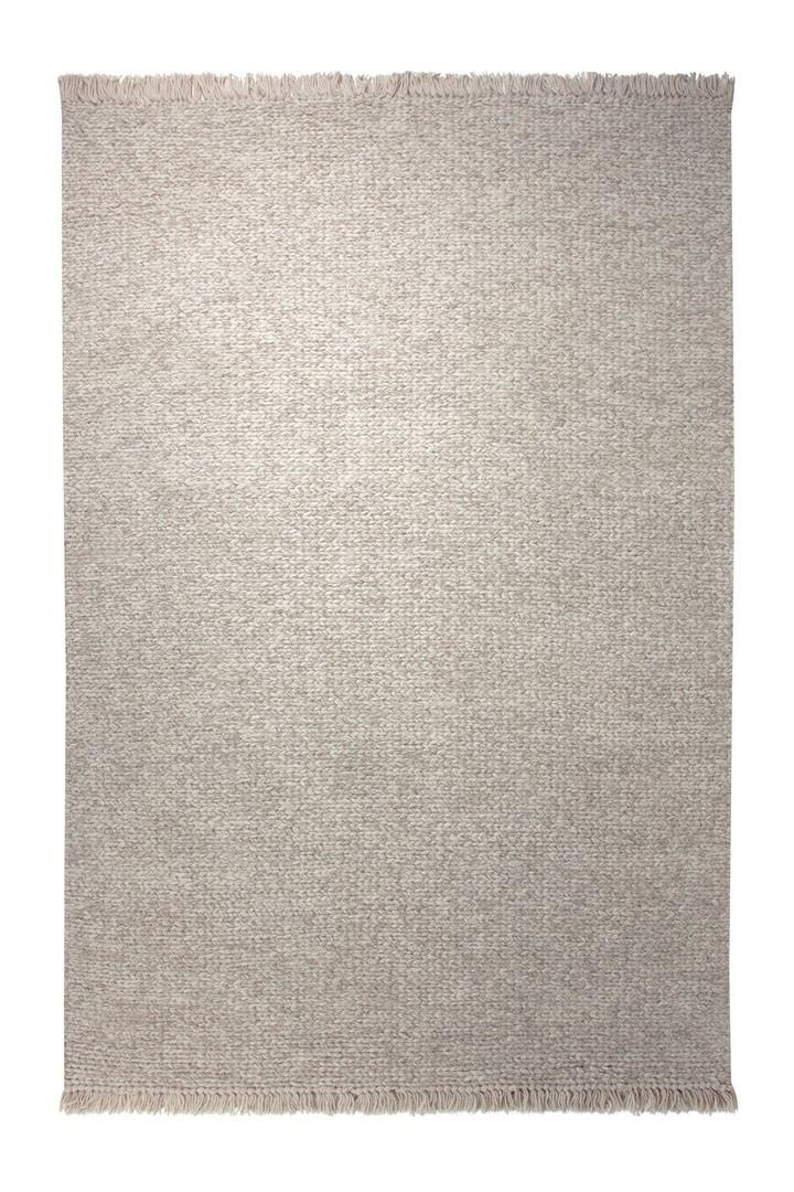 Tapis d'intérieur en laine blanc Knitting Optic par Esprit Home