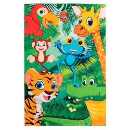 Tapis de chambre enfant multicolore rectangle Mini Jungle