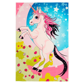 Tapis multicolore pour chambre de fille rectangle Juliette